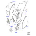 Элемент зеркала правый Ford Mondeo 4 (2007-2015)