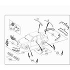 Брызговики передние Mercedes C-klass W204 (2007-2015)