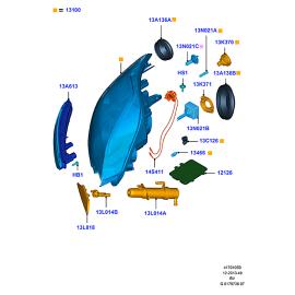 Фара правая Ford Kuga 1 (2008-2013)