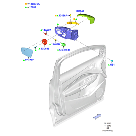 Элемент зеркала левый Ford Kuga 2 (2013-н.в.)