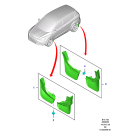 Брызговики передние комплект Ford Kuga 2 (2013-н.в.)