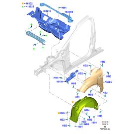 Подкрылок передний правый Ford Kuga 2 (2013-н.в.)