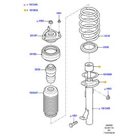 Подшипник опоры амортизатора переднего Ford Fiesta 5 (2001-2008)