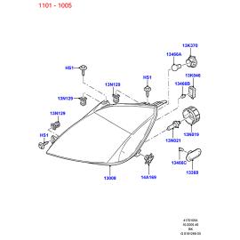 Фара левая Ford Fiesta 5 (2001-2008)