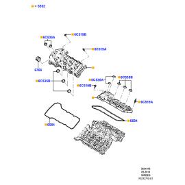 Прокладка крышки клапанов правая Ford Explorer 5 (2011-н.в.)