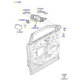 Зеркало левое Ford Explorer 5 (2011-н.в.)