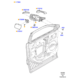 Зеркало правое Ford Explorer 5 (2011-н.в.)