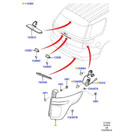 Фонарь правый Ford Explorer 5 (2011-н.в.)
