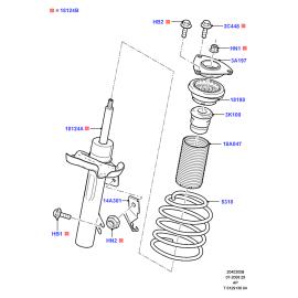 Подшипник опоры амортизатора переднего Ford Focus 2 (2005-2011)