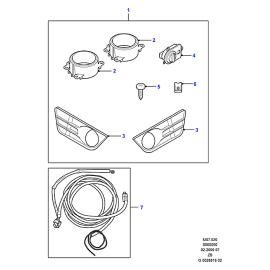 Фара противотуманная (ПТФ) правая Ford Focus 2 (2005-2011)