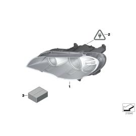 Фара биксеноновая левая BMW X5 E70 (2010-2014)