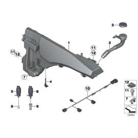 Бачок омывателя с системой омывания фар BMW X6 E71 (2008-2014)