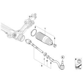 Пыльник рулевой рейки BMW X6 E71 (2008-2014)