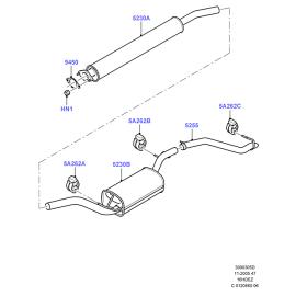 Прокладка трубы приемной Ford Focus 3 (2011-н.в.)