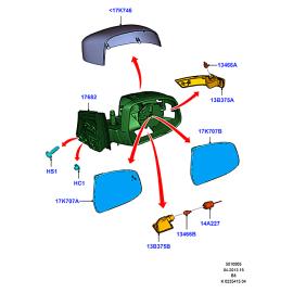 Зеркало правое Ford Focus 3 (2011-н.в.)