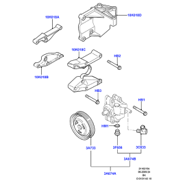 Насос ГУРа в сборе Ford Fusion (2002-2012)