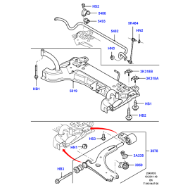 Сайлентблок рычага переднего передний Ford Fusion (2002-2012)