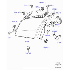 Фара левая Ford Fusion (2002-2012)