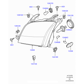Фара правая Ford Fusion (2002-2012)