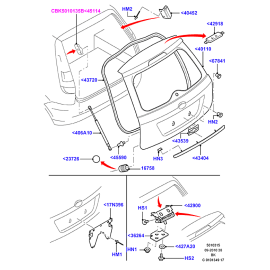 Крышка багажника Ford Fusion (2002-2012)