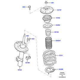 Подшипник опоры амортизатора переднего Ford Mondeo 4 (2007-2015)