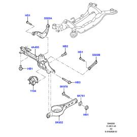Рычаг задний нижний Ford Mondeo 4 (2007-2015)
