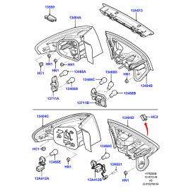 Фонарь левый внутренний Ford Mondeo 4 (2007-2015)