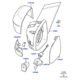 Элемент зеркала левый Ford Mondeo 4 (2007-2015)