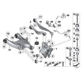 Рычаг задней подвески поперечный контроля схождения BMW 5 F10 (2010-2016)
