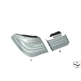 Фонарь правый наружний BMW 7 F01 (2012-2015)