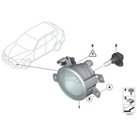 Фара противотуманная (ПТФ) правая BMW X1 E84 (2009-2015)