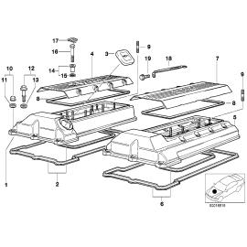 Прокладка крышки клапанов (1-4 цил.) (M62) BMW X5 E53 (1999-2006)