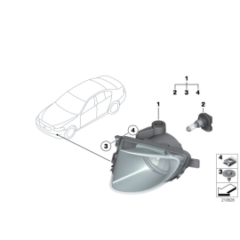 Фара противотуманная (ПТФ) левая BMW 5 F10 (2010-2016)