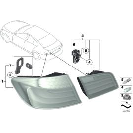 Фонарь правый внутренний BMW 5 F10 (2010-2016)