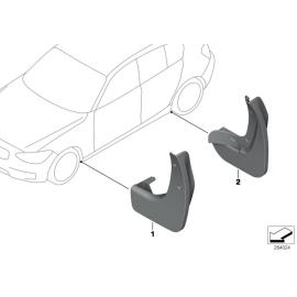 Брызговики задние комплект BMW 1 F20 (2011-2015)