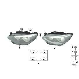 Фара биксеноновая левая BMW 1 F20 (2011-2015)