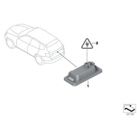 Фонарь освещения номерного знака BMW 1 F20 (2011-2015)