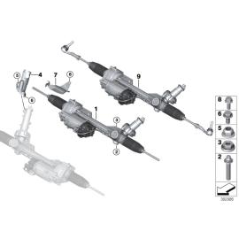 Рейка рулевая в сборе с электроусилителем BMW 1 F20 (2011-2015)