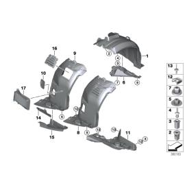 Подкрылок передний правый задняя часть BMW 3 E90 (2005-2012)