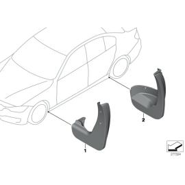 Брызговики задние комплект BMW 3 F30 (2012-н.в.)
