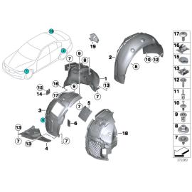 Подкрылок задний правый BMW 3 F30 (2012-н.в.)