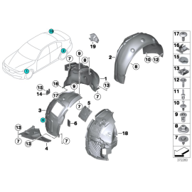 Подкрылок передний правый задняя часть BMW 3 F30 (2012-н.в.)