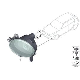 Фара противотуманная (ПТФ) правая BMW 3 F30 (2012-н.в.)