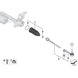 Пыльник рулевой рейки BMW 3 F30 (2012-н.в.)