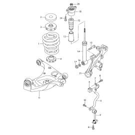 Отбойник амортизатора заднего Audi A6 C6 (2004-2010)