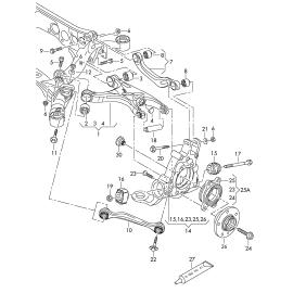 Рычаг подвески задней нижний подруливающий Audi A6 C7 (2011-н.в.)