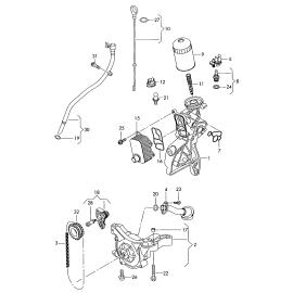 Фильтр масляный Audi Q3 8U (2011-2017)