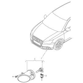 Фара противотуманная (ПТФ) правая Audi Q3 8U (2011-2017)
