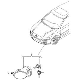 Фара противотуманная (ПТФ) левая Audi Q5 8R (2008-2017)