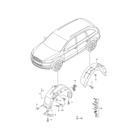 Подкрылок задний правый Audi Q7 4L (2006-2015)